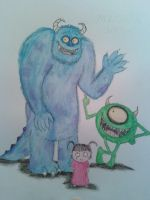 Monsters Inc Tim Burton Style WC by TMNT1984