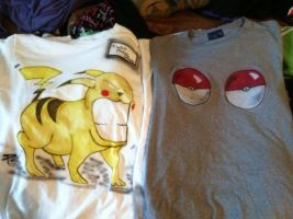His and Hers Pokemon shirts by EnchantedSteel