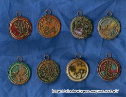 Resin pendants by Shadowisper