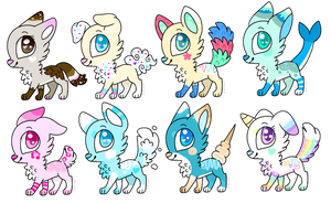 Dog/wolf Adoptables OPEN by RoseyWingedCat