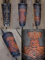 The Hammer Viking Bracer by Wodenswolf