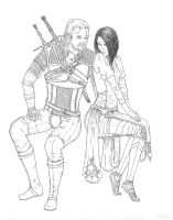 Geralt and Zefiryn by Zero-G-Raven