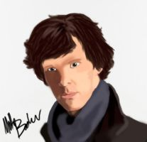 Sherlock Holmes by lurking-chaos
