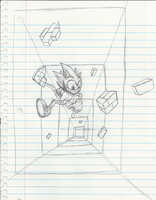 TLO Sonic the Hedgehog: Marble Zone Sketch by Hyperchaotix