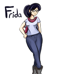 Frida colored sketch by lucy-fuchs