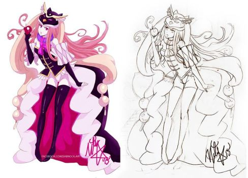 Mawaru Penguindrum lineart by Sabnock