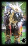 SOLDFlare the sunburst lion poseable artdoll OOAK! by CreaturesofNat