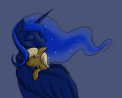 The Moon and I by Enma-Darei