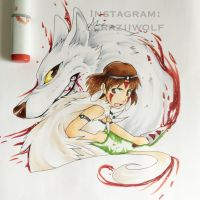 Princess Mononoke by craziiwolf