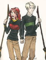 Draco and Ginny Seeker Style by TinyQ