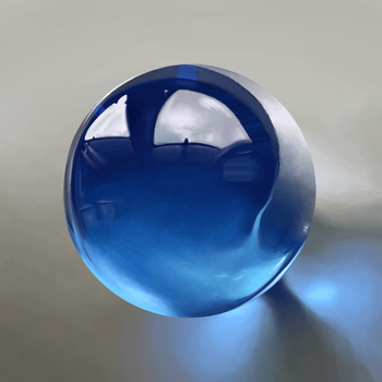 Blue ball of glass by Risvik93