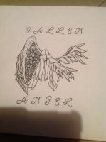 Fallen Angel tattoo design  by CJtheKillerFoxBvB