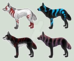 Adoptables!!!! Wolfs!!!! Closed!!!! by SF-Adopts