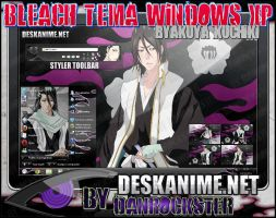 Byakuya Kuchiki Theme Windows XP by Danrockster