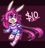 bunny adoptable [$5 Sale!] by mcstarries