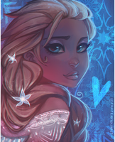 Frozen: Elsa - Portrait by ZARINAABZALILOVA