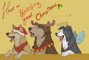 Happy Howllidays from the supernatural gang by FourDirtyPaws