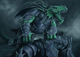 Dragonborn Warrior by JohnDotegowski