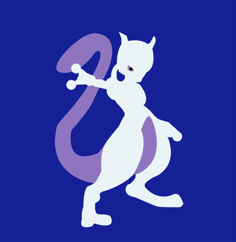 Vectorized: Mewtwo by ViralDrone