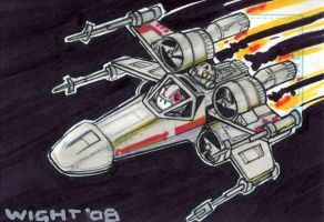 X-wing Sketchcard by joewight