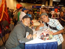Me and Jim Lee at Wondercon 2012 by SWAVE18