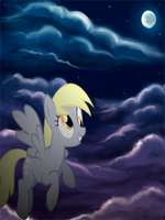 Derpy Hooves Flying Cellphone Wallpaper by armando92