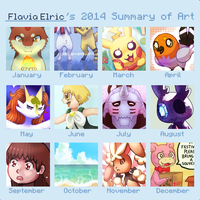 2014 Summary of Art by Flavia-Elric