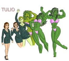 She Hulk transforming by TULIO19mx