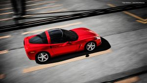 Red Corvette by AmericanMuscle