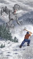 Paul Bunyan and the Wendigo by gaelvin