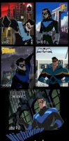 Nightwing through the ages by DickGraywolf