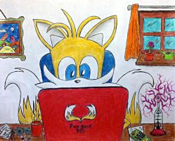 On the Computer by tails4evr
