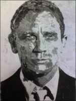Daniel Craig Monoprint by Loftio