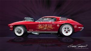 1963 Corvette Drag Racer by GaryCampesi
