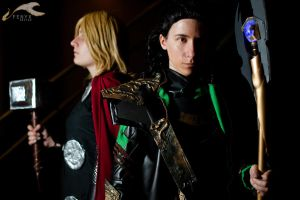 SukoshiCon Destin - The Avengers: Loki + Thor by elysiagriffin