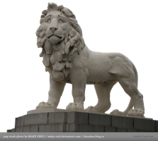 Statue of lion by MAKY-OREL
