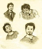 Tony Stark sketches by Ferntree