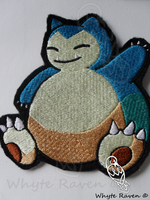 Snorlax Pokemon Embroidery Patch by Whyte-Raven