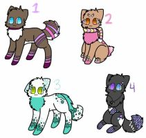 Adoptables! (OPEN) by SnowseaSide