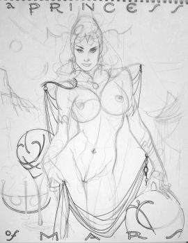 Dejah Thoris, in progress by AdamHughes