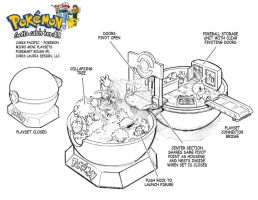 Pokemon Micro Mini Playset : Pokemart Playset by toymaker-cl