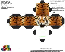 CE7: Giant Realistic Flying Tiger Cubee by TheFlyingDachshund