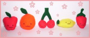 plush fruits by VioletLunchell