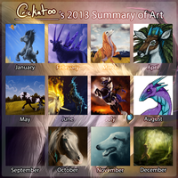 2013 Summary of Art by Crickatoo