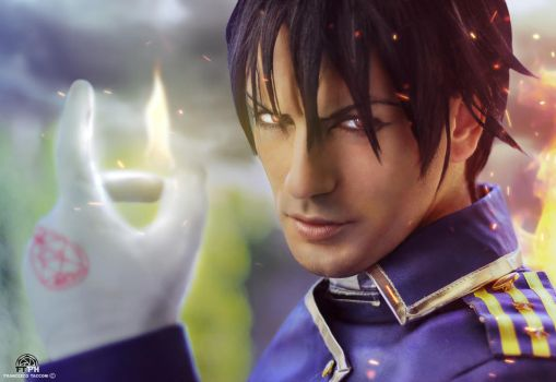 Roy Mustang - The Flame Alchemist ( FMA ) by LeonChiroCosplayArt
