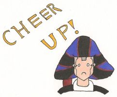 Frollo says Cheer Up! by AlyssaGM
