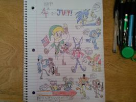 The 4th of July Cartoon Gang by ParamountCNGirl15