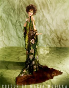 Alla Nazimova ~~1921~~ colourised by Maria-Musikka