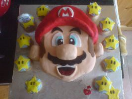 Super Cake Mario by bloodypinata