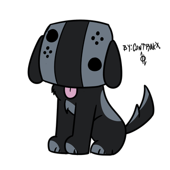 Nintendo Switch Dog by Litrakx